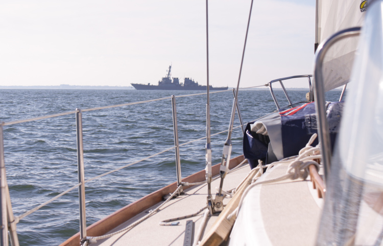 """Warship 72, this is Sailing Vessel Tara, over"""