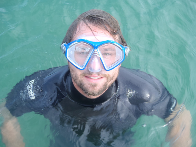 Impossible to look cool in a snorkel mask.  Believe me, I tried.